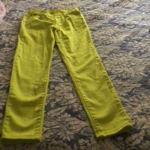 Jeggings chartreuse color